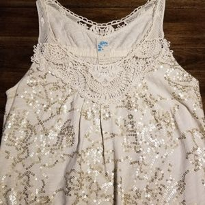 Anthropologie  C  keer  sequin  top size small